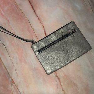 Lodis leather wristlet